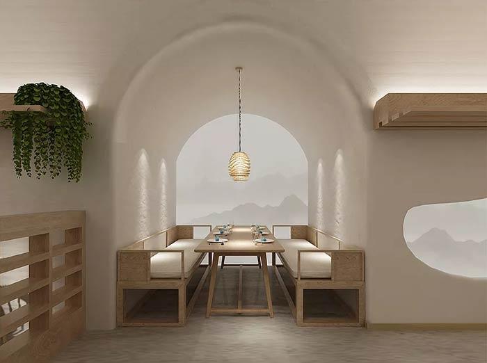 窯洞主題餐廳裝修設計效果圖