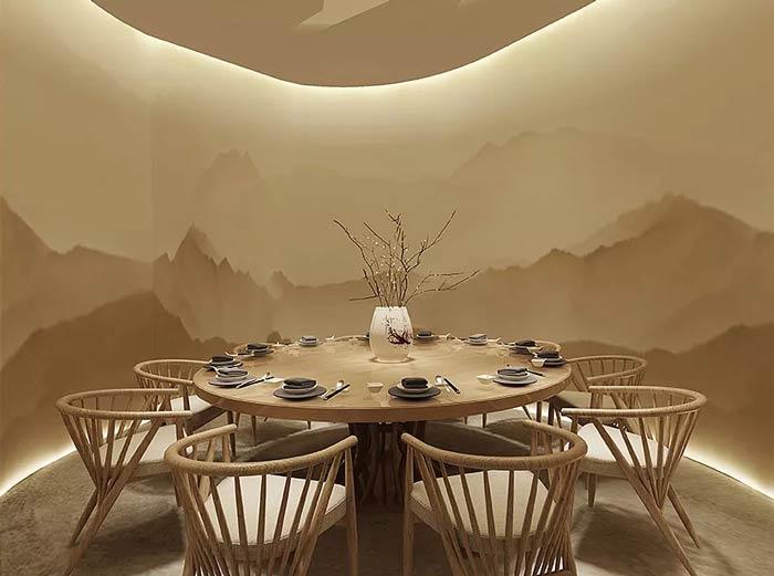 窑洞主题餐厅包房设计:包厢