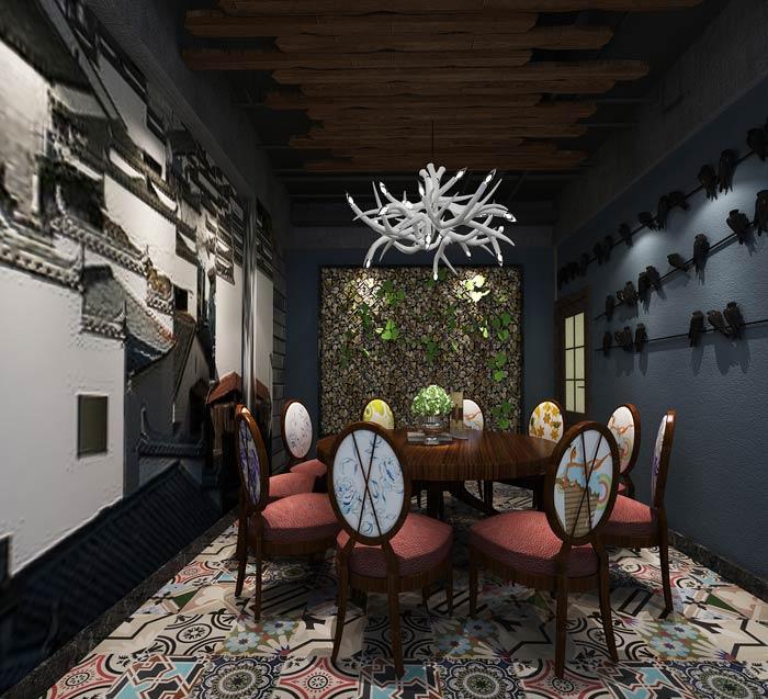 变形金刚主题餐厅包厢装修设计效果图