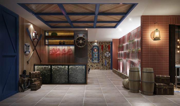 海盗主题餐厅装修设计效果图