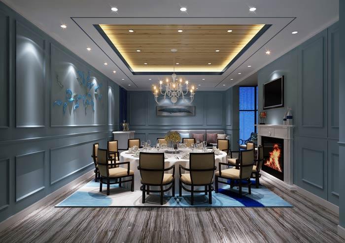 海盗主题餐厅包厢装修设计效果图