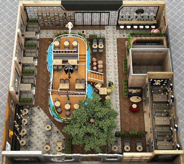 海贼王主题餐厅装修设计方案