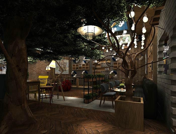 海贼王主题餐厅内部装修设计效果图