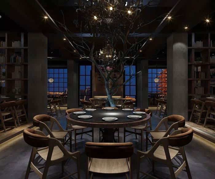 特色主题餐厅大厅装修设计效果图