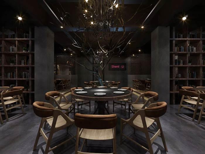 特色主题餐厅餐桌装修设计效果图