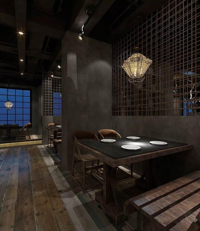 特色主题餐厅四人桌装修设计效果图