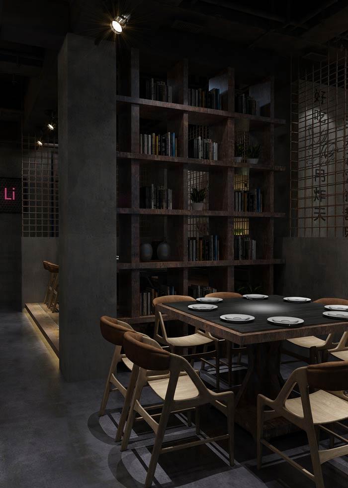特色主题餐厅隔断装修设计效果图