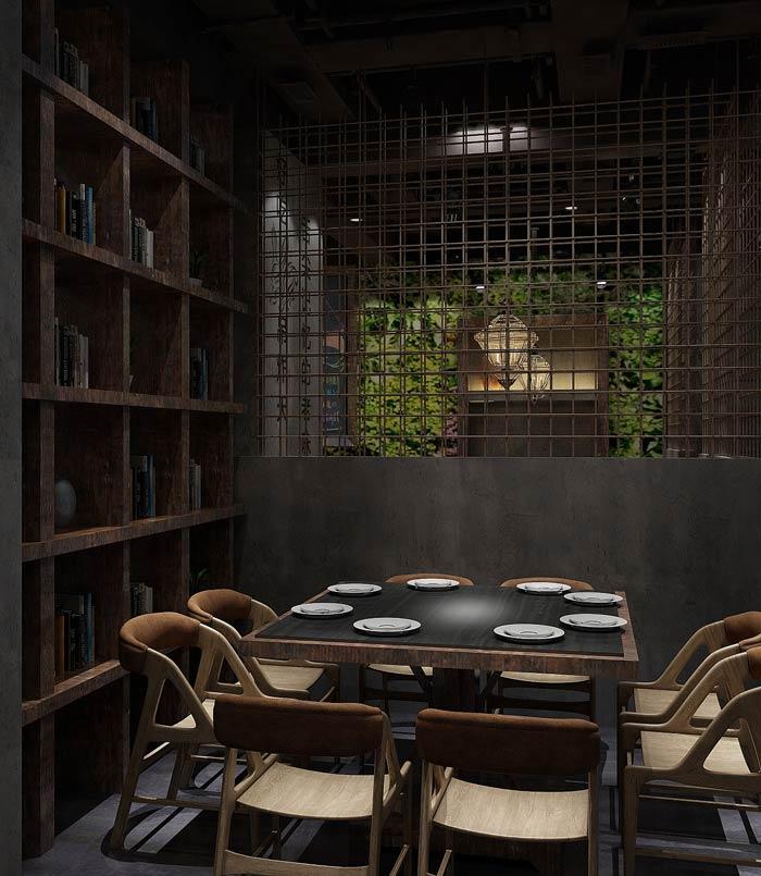 特色主题餐厅窗户装修设计效果图