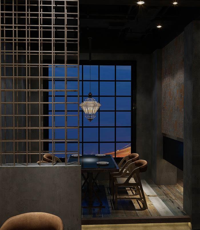 特色主题餐厅灯光装修设计效果图