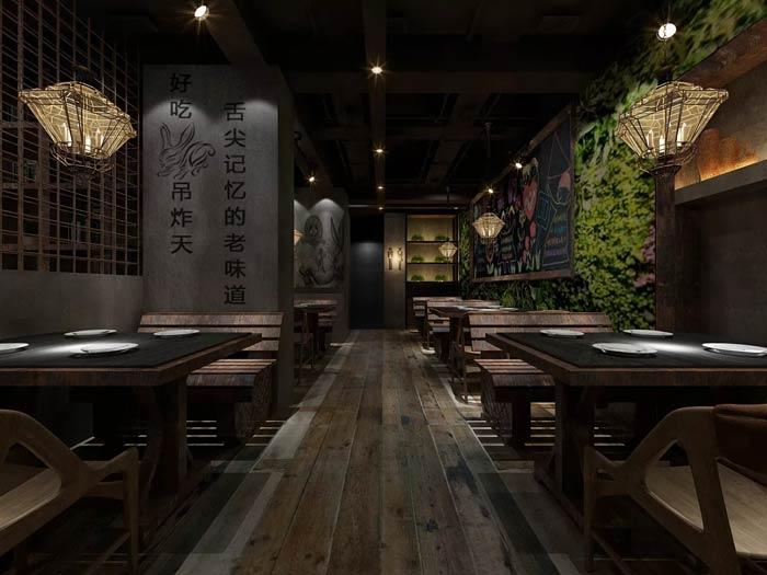 特色主题餐厅墙体装修设计效果图