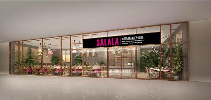 东南亚主题餐厅门头装修设计效果图