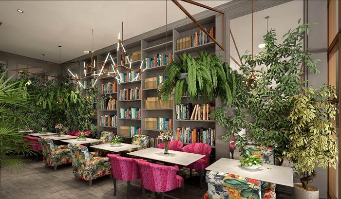 东南亚主题餐厅软装装修设计效果图
