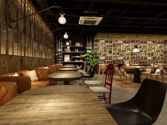 韩式主题餐厅装修设计效果图