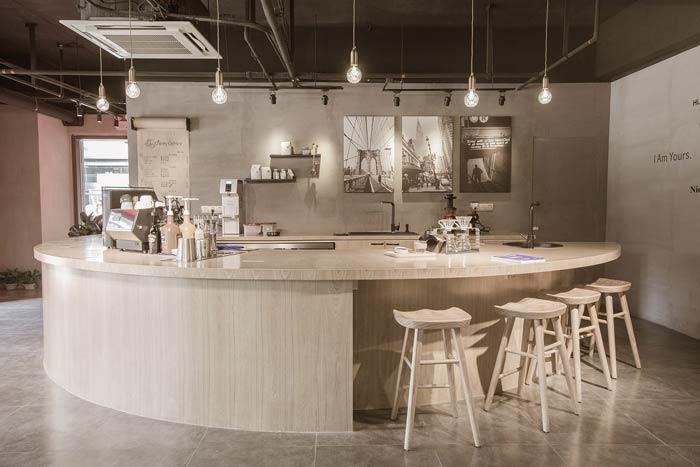咖啡店吧台区装修设计效果图