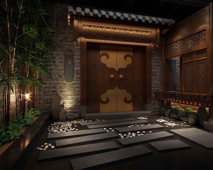 中式火锅店装修设计效果图