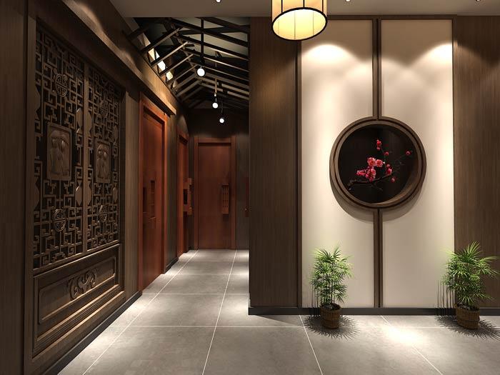 新中式火锅店包厢装修设计效果图