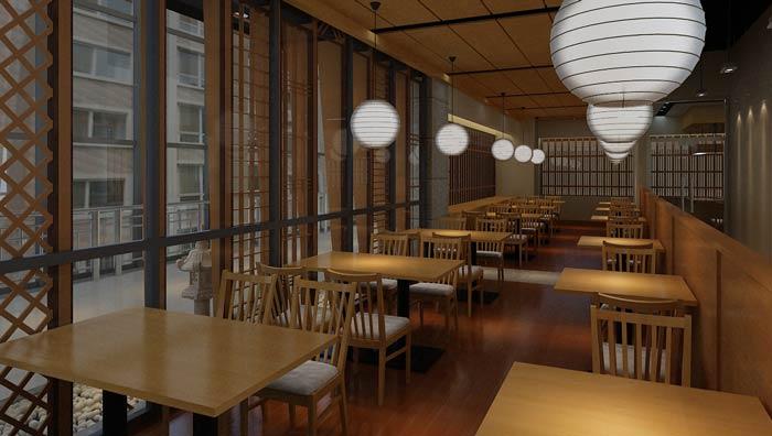 会所_日本料理餐厅装修设计效果图_岚禾日式餐厅设计