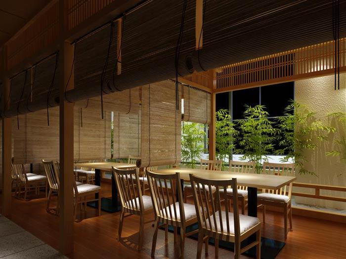 日本料理餐厅装修设计效果图_岚禾日式餐厅设计