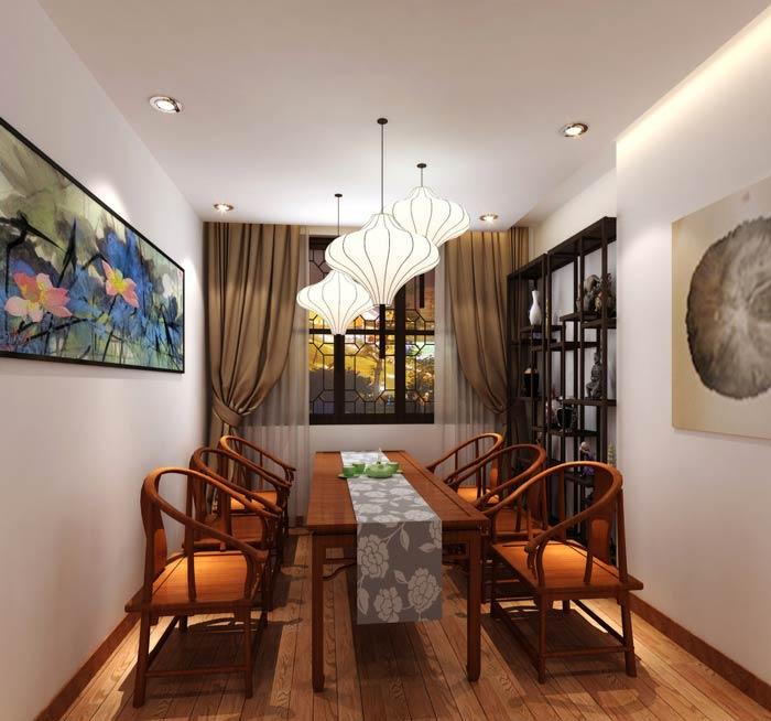 中式茶餐厅饮茶区装修设计效果图