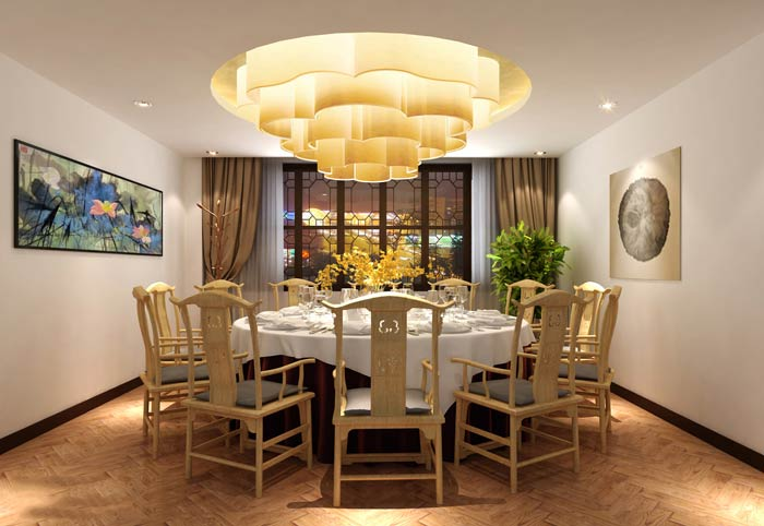 中式茶餐厅包厢装修设计效果图