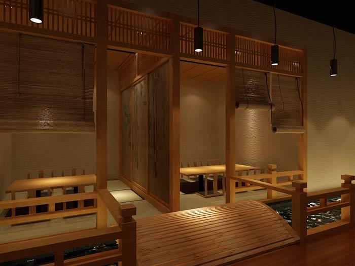 日本料理餐厅装修设计效果图