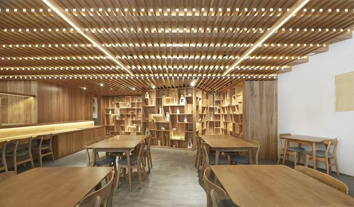 日式餐厅餐桌装修设计效果图