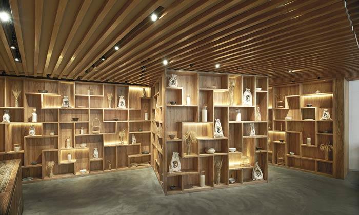 日式餐厅展示区装修设计效果图