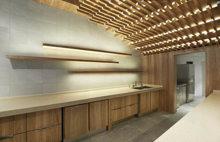 日式餐厅厨房装修设计效果图