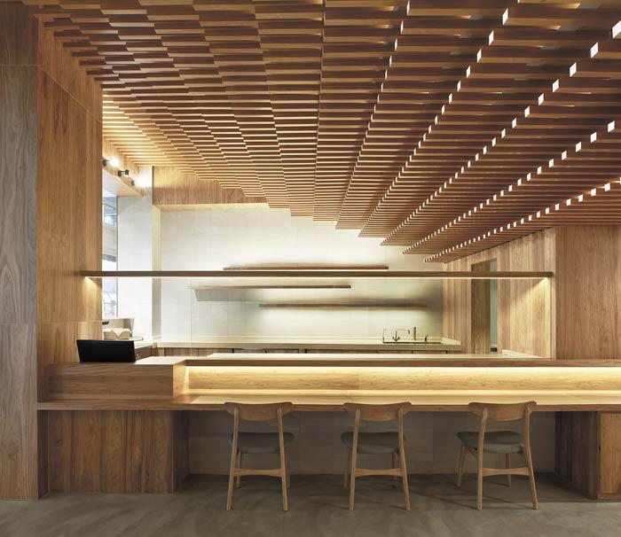 日式餐厅吧台装修设计效果图