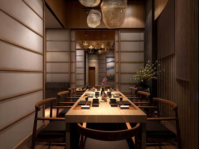 日式料理餐厅装修设计效果图