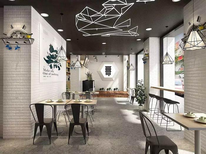 茶饮茶餐厅装修设计效果图