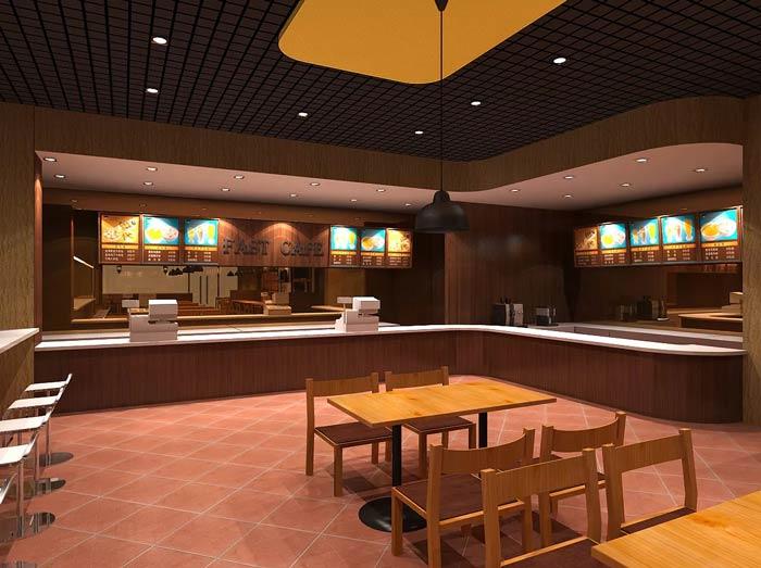 快餐店吧台装修设计效果图