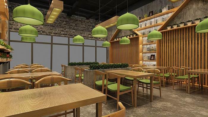 中式快餐店裝修設計效果圖