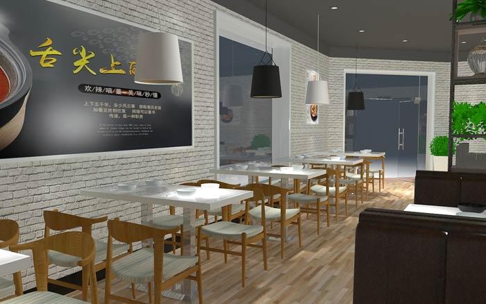 快餐店面装修设计效果图