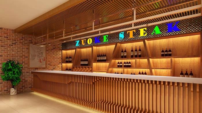 牛排西餐廳裝修設計效果圖