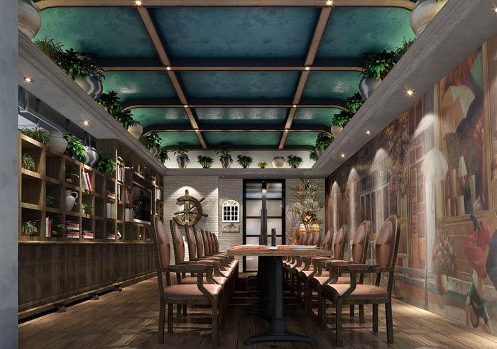 西餐厅包厢装修设计效果图