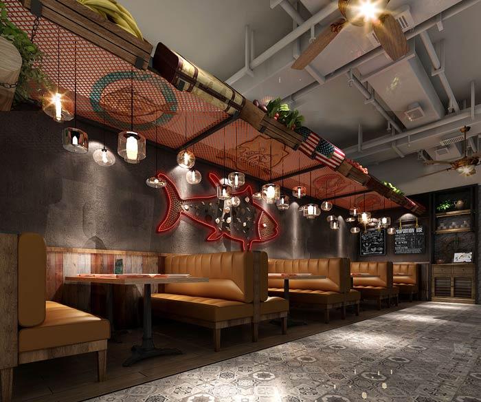 西餐厅海鲜餐区装修设计效果图