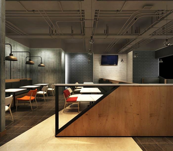 主题西餐厅隔断装修设计效果图