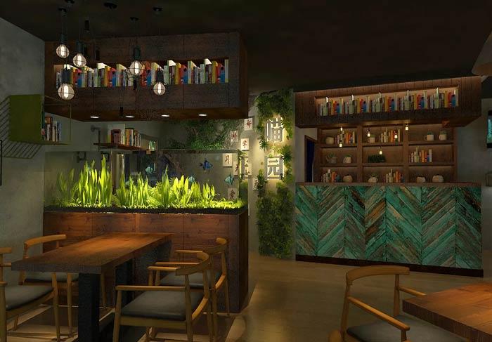 主题咖啡厅装修设计效果图
