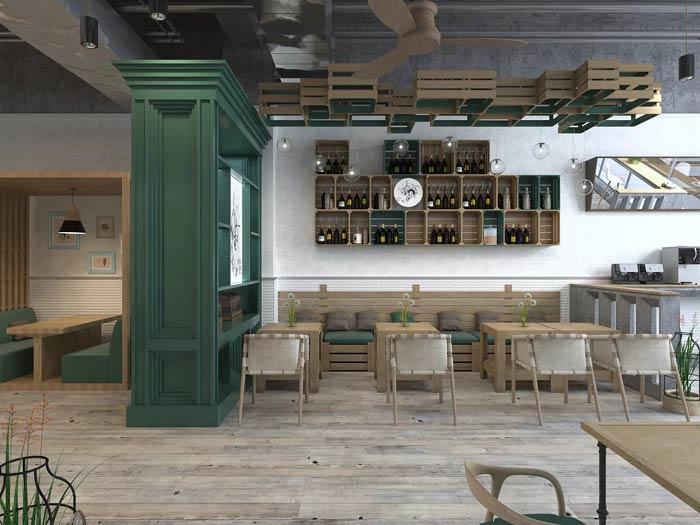 街角的咖啡店混合区装修设计效果图