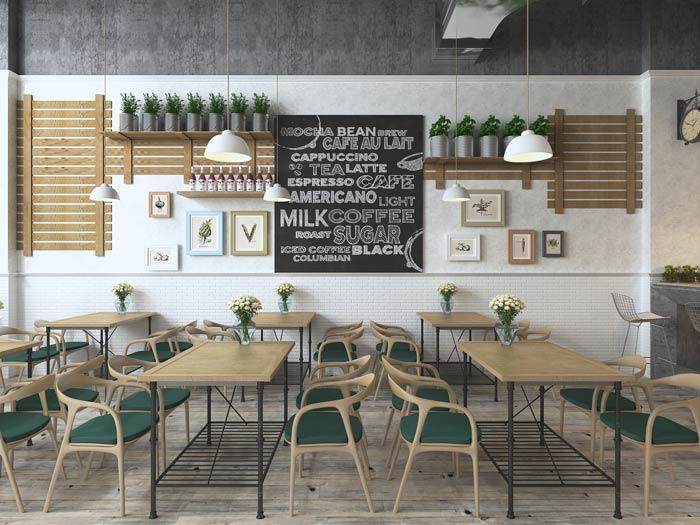 街角的咖啡店装饰设计效果图