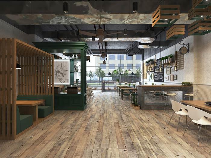 街角的咖啡店整体装修设计效果图