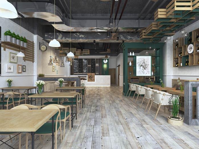 街角的咖啡店空间装修设计效果图