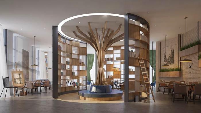咖啡店装修_咖啡厅装修设计效果图_岚禾咖啡厅设计