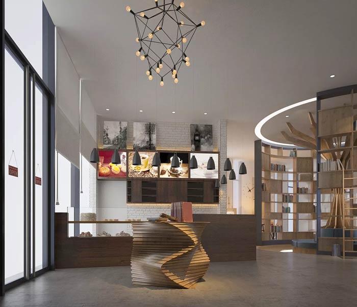 咖啡厅前台装修设计效果图