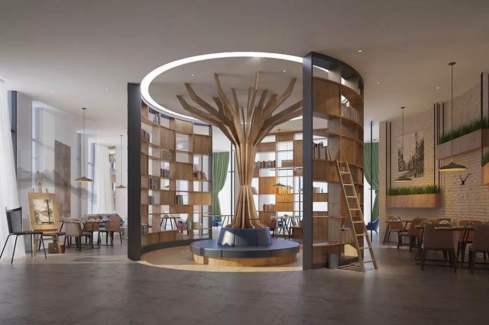 咖啡厅阅读室装修设计效果图