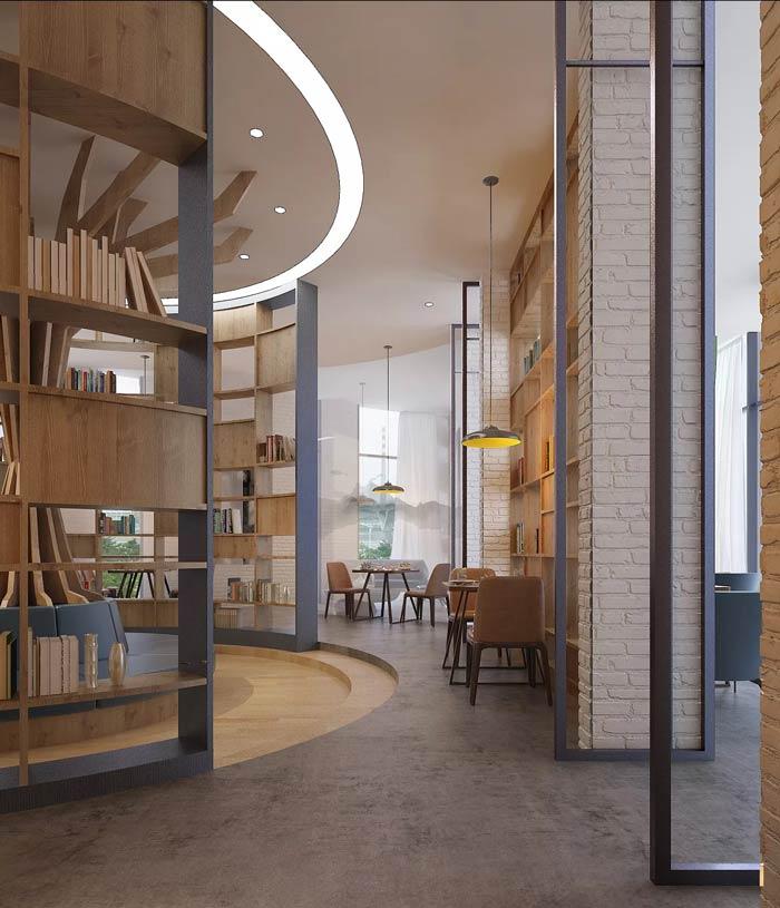 咖啡厅过道装修设计效果图