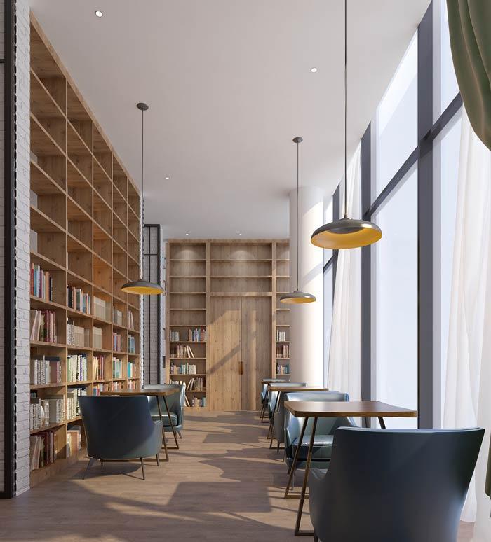 咖啡厅阅读区装修设计效果图