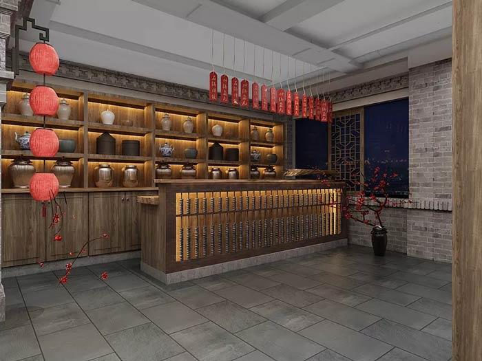 中餐厅进门区设计效果图