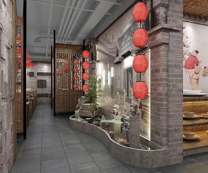 中餐厅中庭设计效果图